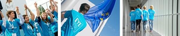 Freiwillige für das EYE2014 Event