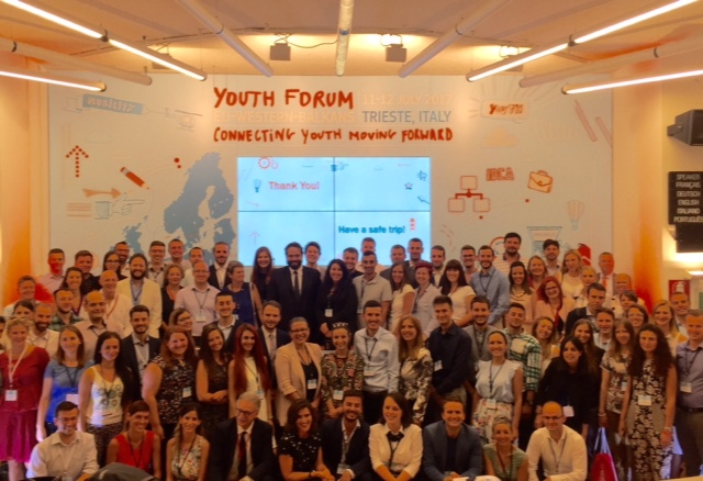 Photo of young people participating in the event in Trieste