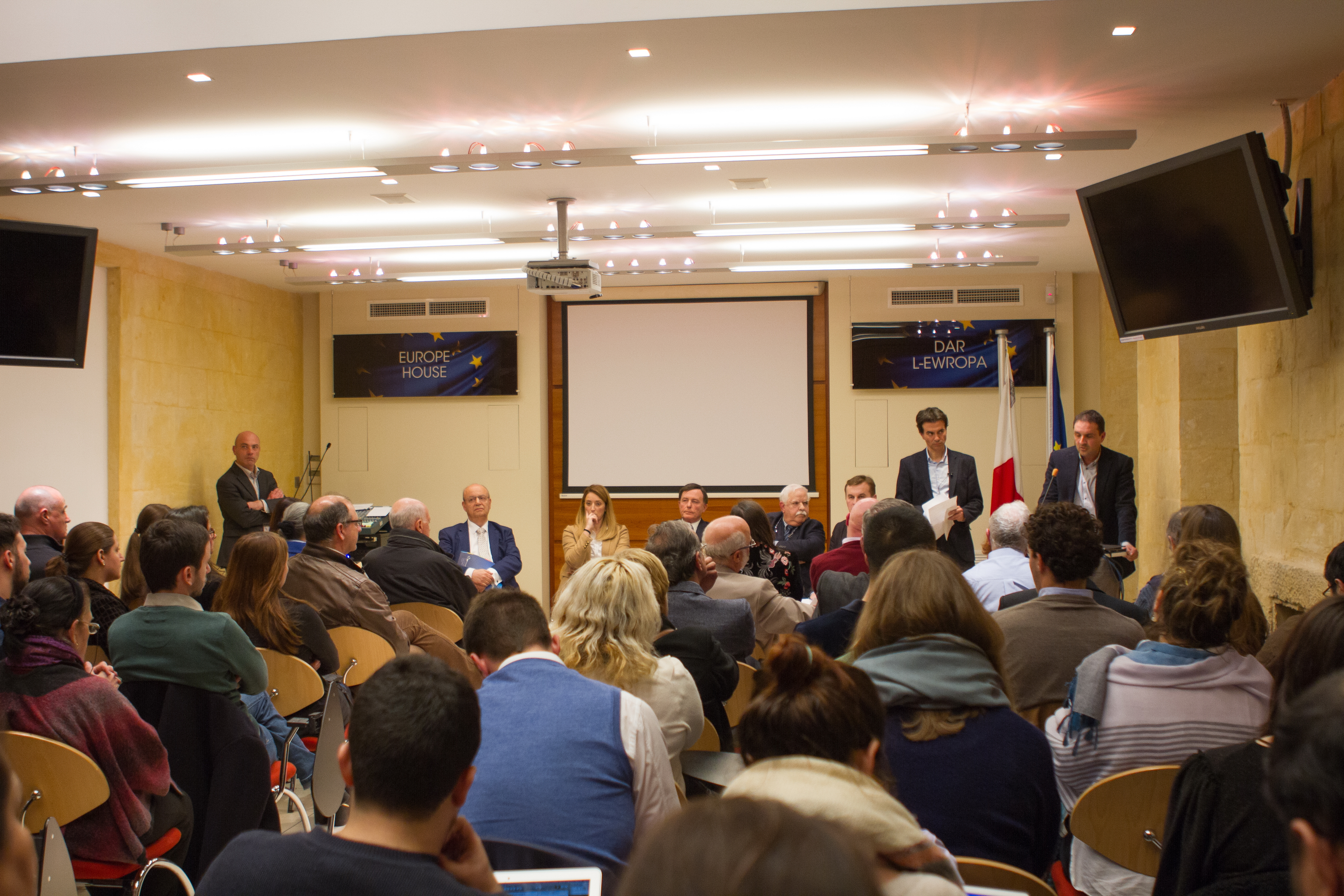The Belarusian Association of Journalists and Reporters Without Borders Discuss Freedom of Speech in Malta (02/02/2018)