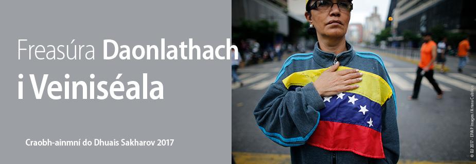 Freasúra Daonlathach i Veiniséala, craobh-ainmní do Dhuais Sakharov 2017 um Shaoirse Smaointeoireachta