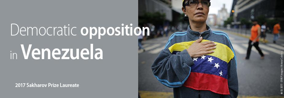 Oposição Democrática na Venezuela, laureada com o Prémio Sakharov para a Liberdade de Pensamento de 2017