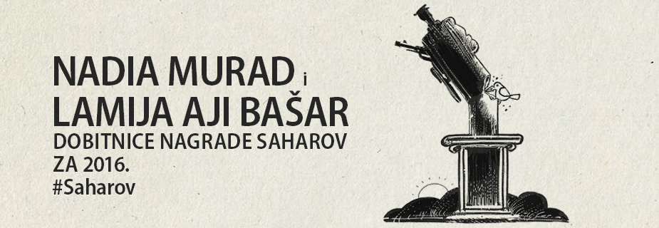 Nadia Murad i Lamija Aji Bašar, dobitnice Nagrade Saharov za slobodu mišljenja za 2016.