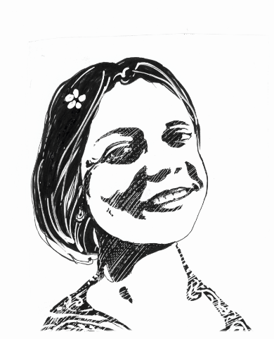 Razan Zaitouneh illustration by Ali Ferzat